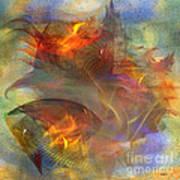 Autumn Ablaze - Square Version Art Print