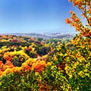 Autumn Across The Hills Art Print