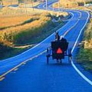 Autumn Amish Buggy Ride Art Print