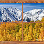 Autumn Aspen Tree Forest Barn Wood Picture Window Frame View Art Print by James BO  Insogna