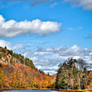 Autumn At Bald Mountain Pond Art Print