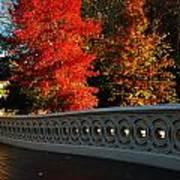 Autumn At Bow Bridge Art Print