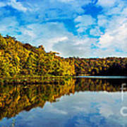 Autumn At Sailboat Cove Art Print