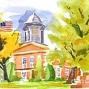 Autumn At The Courthouse Art Print