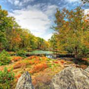 Autumn At The Creek - Green Lane - Pennsylvania - Usa Art Print