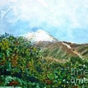 Autumn At The Foot Of Mount Elbrus Art Print