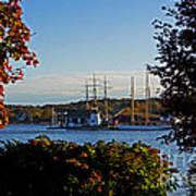 Autumn At The Seaport Art Print