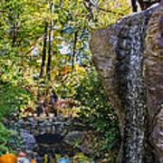 Autumn At The Waterfall Art Print