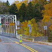 Autumn At Washington's Crossing Bridge Art Print