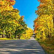 Autumn Back Road Art Print