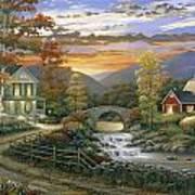 Autumn Barn Print by John Zaccheo
