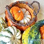 Autumn Basketful Art Print