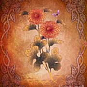 Autumn Blooming Mum Print by Bedros Awak