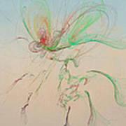 Autumn Butterfly Abstract Art Print