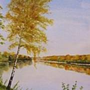 Autumn By The River Art Print