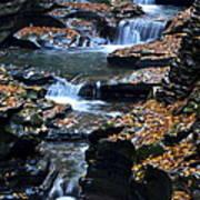 Autumn Cascade Art Print by Frozen in Time Fine Art Photography