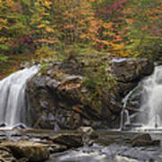 Autumn Cascades Art Print