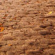 Autumn Cobble Stone Road II Art Print