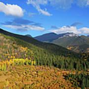 Autumn Color In Colorado Rockies Art Print
