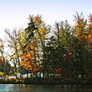 Autumn Color On The Fulton Chain Of Lakes Art Print