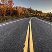 Autumn Colors And Road  Art Print