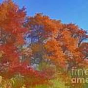 Autumn Colors I Digital Paint Art Print