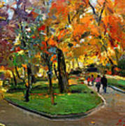Autumn Colors - Lugano Art Print