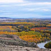 Autumn Colors On The Ebro River Art Print
