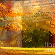 Autumn Colors Painterly Art Print by Lutz Baar
