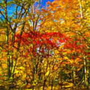 Autumn Cul-de-sac - Paint Art Print