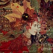 Autumn Dryad Collage Art Print