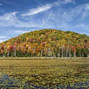 Serene Pond Vermont Autumn Panorama Art Print
