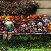 Autumn - Family Reunion Art Print by Mike Savad
