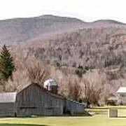 Autumn Farm In Catskills Art Print