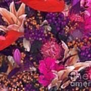 Autumn Flower Bouquet Art Print