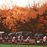 Autumn Football With Cutout Effect Art Print