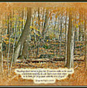 Autumn Forest - George Washington Carver Quote Art Print