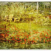 Autumn Garden Art Print by Dianne  Lacourciere