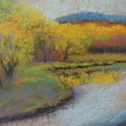 Autumn Glow At Catfish Corner Art Print