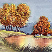 Autumn Golds Art Print