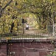Autumn Hike On The C And O Canal Towpath At Seneca Creek Art Print