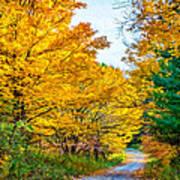Autumn Hike - Paint Art Print