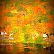 Autumn In Collinsville Connecticut  Art Print