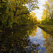 Autumn In Morrisville Pa Along The Delaware Canal Art Print