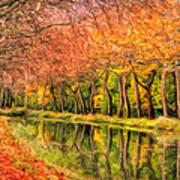 Autumn In Provence Art Print