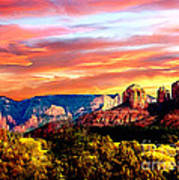 Autumn In Red Rock State Park Art Print