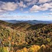 Autumn In The Blue Ridge Mountains Art Print