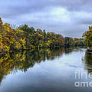Autumn In The River Art Print