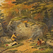 Autumn In West Canada Chippeway Indians Art Print