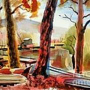 Autumn Jon Boats I Art Print